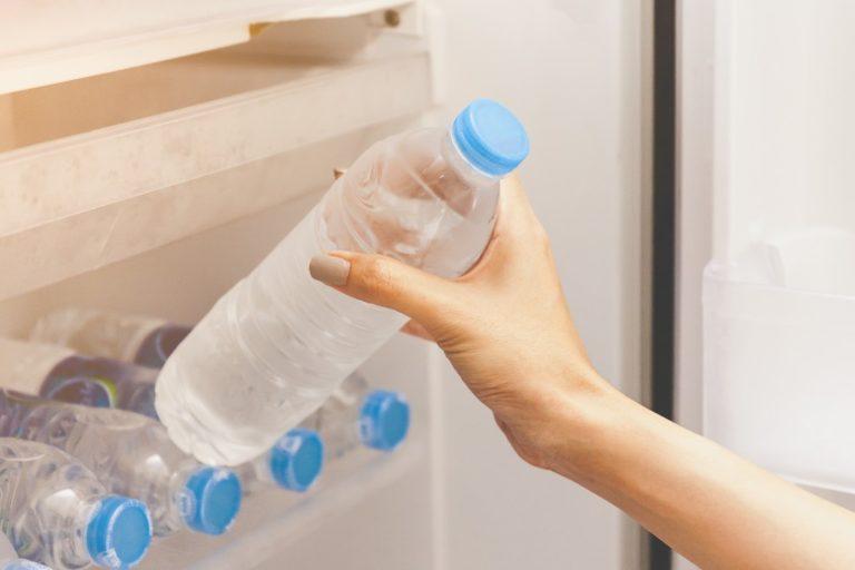 bottled water from the fridge