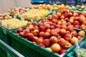fruits in the store