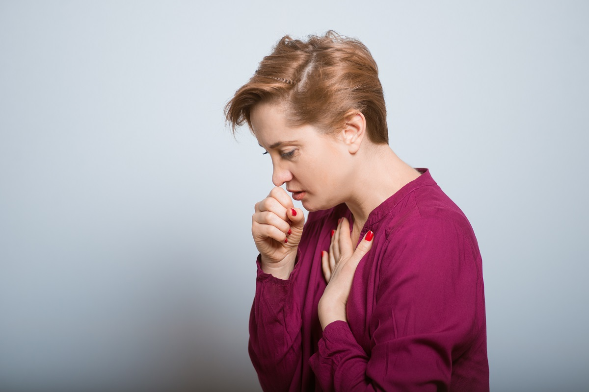 Female coughing