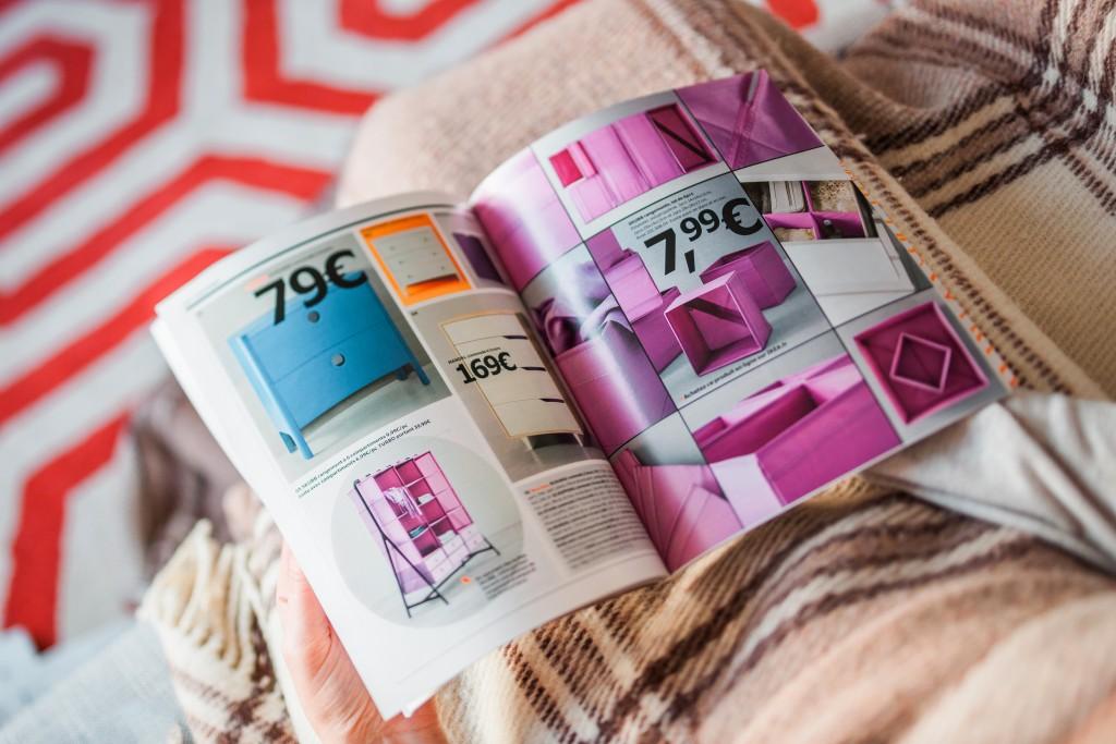 person reading a magazine