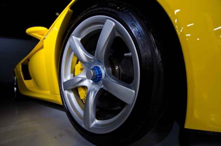 close up shot of a car wheel