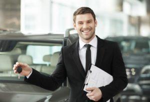 portrait of a car salesman