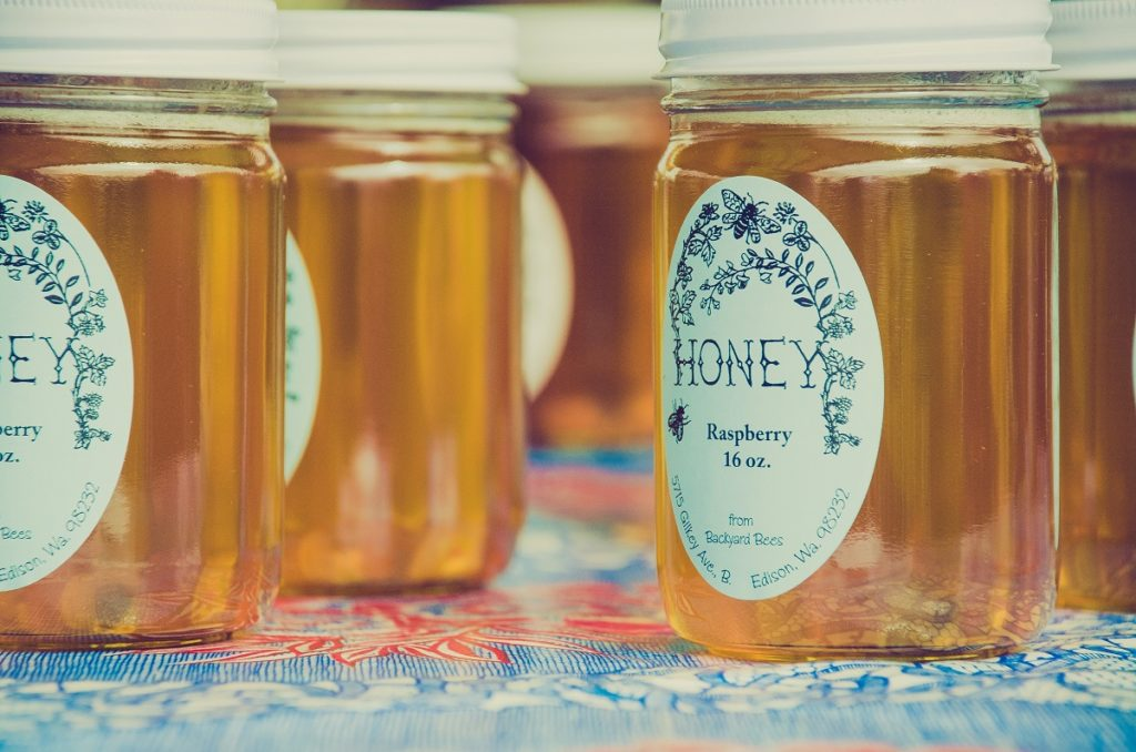 Honey in containers
