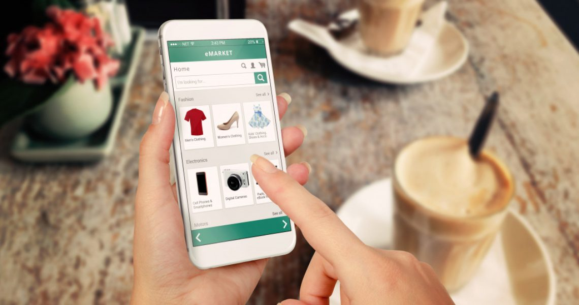 woman shopping for clothes online